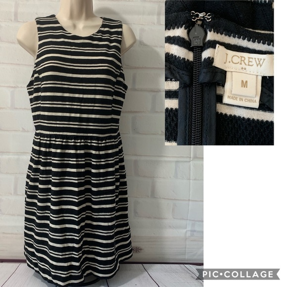 J. Crew Dresses & Skirts - J. Crew Cream and Black Striped Knit Dress